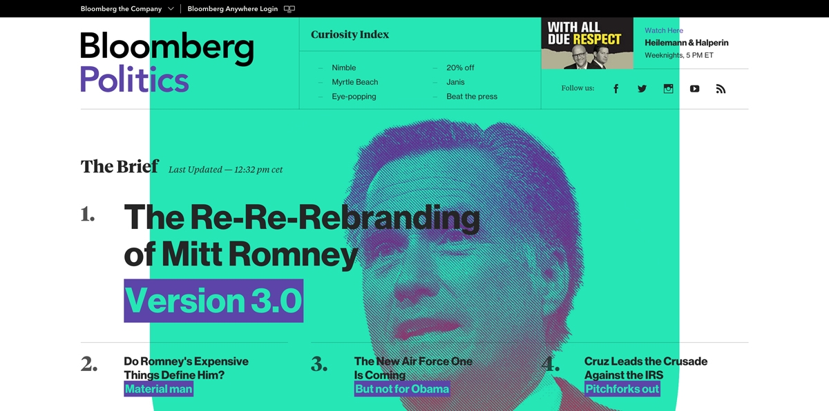 Nowy strona Bloomberg - dobry redesign