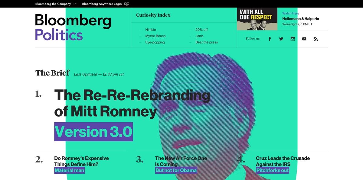 Nowy strona Bloomberg - dobry redesign