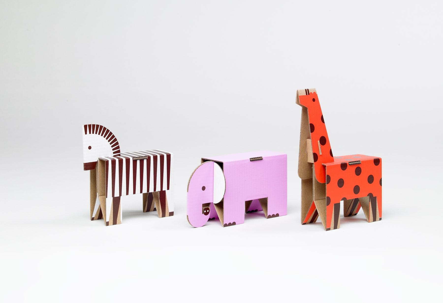 Как сделать из картона животных