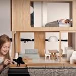 Drewniane domki dla lalek Barbir, zaprojektowane przez Miniio