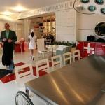 Architektura Wnętrz - wystrój restauracji w Rydze stylizowanej na szpital