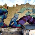 Galeria Urban Forms w Łodzi. Mural autorstwa ARYZ na ulicy Pomorskiej 67