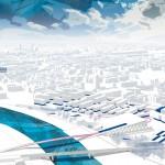Poniższy projekt zwyciężył w konkursie na opracowanie ideowo-studialnej koncepcji urbanistyczno-architektonicznej Centrum Muzyki w Krakowie.