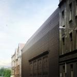 Projekt konkursowy autorstwa Grupa 5 we współpracy z BAAS architects z Barcelony, który zdobył 1- miejsce w konkursie na nową siedzibę Wydziału Radia i Telewizji Uniwersytetu Śląskiego w Katowicach.