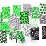 Seria wydawnicza WZORY/PATTERNS przedstawia wybór dekoracyjnych i eksperymentalnych wzorów stworzonych przez projektantów graficznych i artystów.