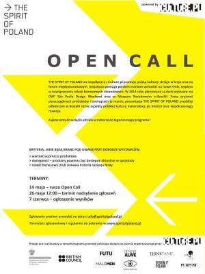 Do 26 maja The Spirit of Poland i Culture.pl zapraszają projektantów i producentów do wzięcia udziału w naborze do tegorocznego programu.