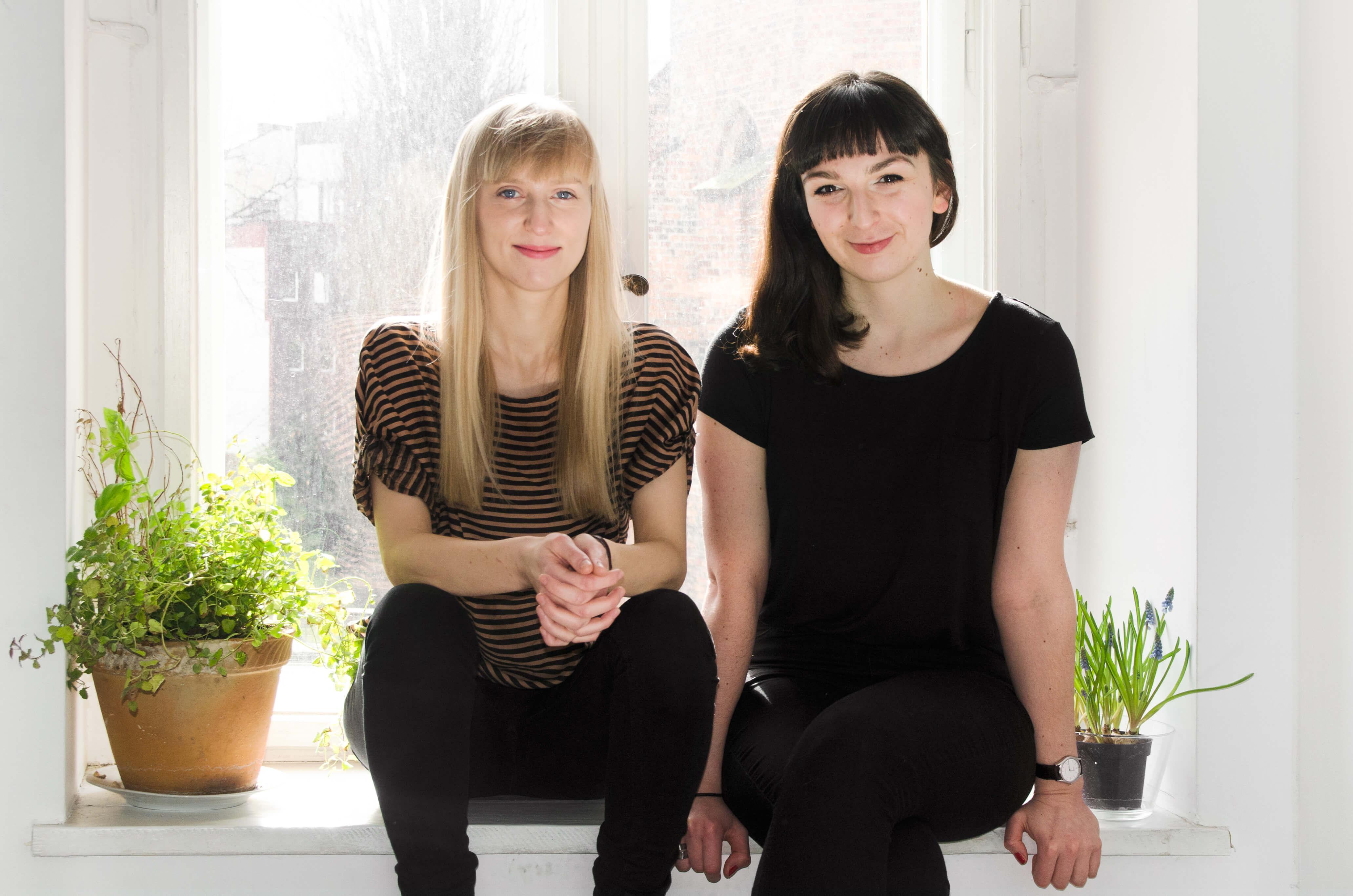 Paulina Kacprzak i Olga Rafalska - organizatorki konferencji Elementarz Projektanta