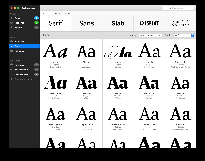 Fontstand_Fonts